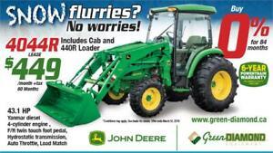 4044R John Deere Tractor, Loader, Cab Winter Package