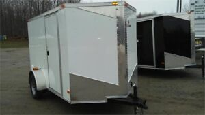 2018 NEW 6X10 V-NOSE ENCLOSED TRAILERS