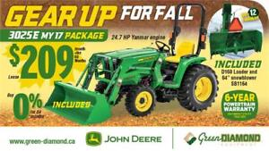 3025E JOHN DEERE MY 17 PACKAGE