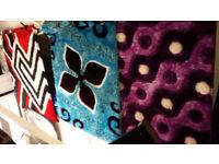 Shiny shaggy yarn polyester cut & loop rugs
