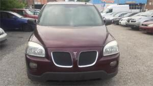 2008 PONTIAC MONTANA WITH SAFETY WARRANTY 7 SEATER