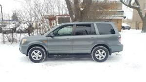 2008 Honda Pilot EX-L 4WD, Leather 8 seater,P.sunroof,Certified