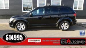 2015 DODGE JOURNEY SE+, 4cyl auto, 7 pass, cruise, bluetooth.