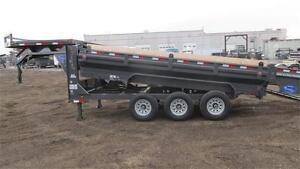 2017 GOOSENECK 16FT KING SIZE DUMPBOX TRIPLE AXLE 21,000 LB GVW