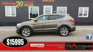 2013 HYUNDAI SANTA FE SE 2.0T AWD - leather, moonroof, bluetooth