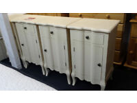 clearance french style cream 1 door 1 drawer bedside cabinet