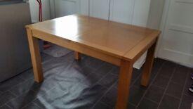 Solid Oak Table - extendable 90cm x 130/160cm
