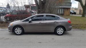 2012 Honda Civic Sdn LX,Auto ,LOADED LOW KMS BLUETOOTH CERTIFIED