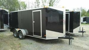 2018 NEW 7X16 V-NOSE ENCLOSED TRAILERS