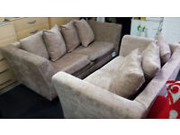 Ex-display golden chenille fabric 3+2 seater set