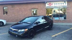 2008 Honda Civic LX SEDAN. LOW KMS! AUTO. CERTIFIED AND ETESTED.