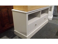 New clearance wooden grey 2 drawer tv unit