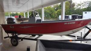 Used G3 150T Fishing Boat with 40HP Yamaha Outboard & Trailer