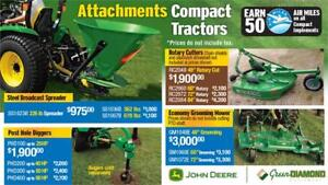 COMPACT TRACTORS ATTACHMENTS - SPREADERS, POST HOLE DIGGERS, ROT