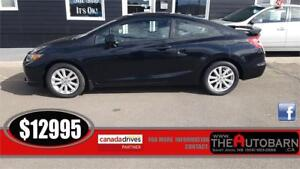 2012 HONDA CIVIC EX-L COUPE - CRUISE, BLUETOOTH, NAVIGATION!