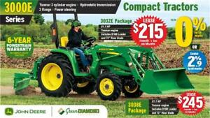 "3032E JOHN DEERE COMPACT TRACTOR LOADER & 72"" REAR BLADE PACKAGE"