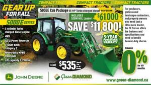 5055E JOHN DEERE COMPACT TRACTOR, LOADER, CAB PACKAGE