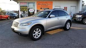 2004 INFINITI FX35 - Leather, Sunroof, Alloys, Safety Certified