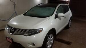 2009 NISSAN MURANO SL AWD PEARL WHITE WITH BLACK PANORAMIC ROOF