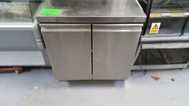STAINLESS STEEL TABLE WITH LARGE CUPBOARD AST128