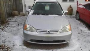 2001 HONDA CIVIC AUTOMATIC 4 DOOR