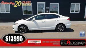 2014 HONDA CIVIC EX SEDAN - 5 SPEED, BACKUP CAM, HEATED SEATS