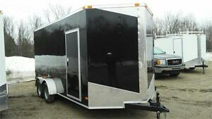NEW 7X16 V-NOSE ENCLOSED TRAILERS 2017