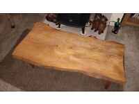 bespoke rustic solid oak coffee table
