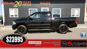 2013 DODGE RAM 1500 - 5.7l HEMI V8 4x4 - SPRAY LINER, STEPS