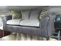 Ex-display clearance fabric small 3 seater sofa