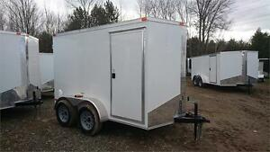 BEST PRICE** 6x10 TANDEM + V-Nose ENCLOSED CARGO TRAILER
