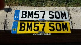PERSONAL REGISTRATION/ DRIVING SCHOOL PLATE, AS NEW CONDITION AS HARDLY USED