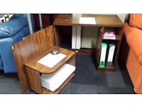 Brand new computer desk with storage door