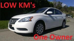 2014 Nissan Sentra S   1 OWNER  LOW LOW KMS
