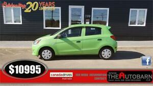 2015 MITSUBISHI MIRAGE ES HATCHBACK - 3CYL AUT0, ONLY 27348KM
