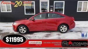 2014 CHEVROLET CRUZE 2LT - moonroof, onstar, cruise, ONLY 70K