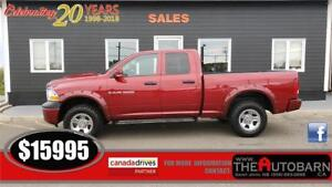 2011 DODGE RAM 1500 SXT QUAD CAB - 4.7L V8 4X4, criuse, cd