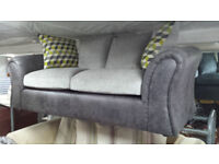 Clearance fabric small 3 seater sofa