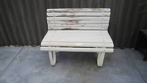 50's wrought iron frame and wood garden bench Woodlands Stirling Area Preview
