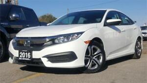 2016 Honda Civic Sedan LX|REAR VIEW|ACCIDENT FREE|