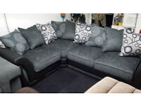 New Clearance diamond leather fabric corner sofa