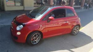 2013 FIAT 500 Sport MANUAL TRANS WITH ROOF 77KMS