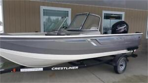 Crestliner 1700 Vision WT WITH 90HP Mercury Outboard & TRAILER