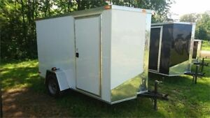 2019 NEW 6X8 V-NOSE ENCLOSED TRAILERS BARN DOOR