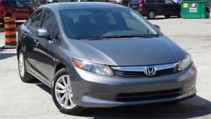 2012 Honda Civic Sdn EX WITH SAFETY CERTIFICATE