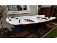 Dell Quay Dory 11ft Fishing / Fun Boat + Engine, Trailer and All Accessories - VGC