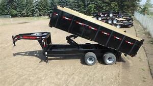 2017  18FT Gooseneck Dump Trailer (22,000LB GVW) Double A