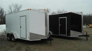 NEW 7X14 V-NOSE ENCLOSED TRAILERS 2017