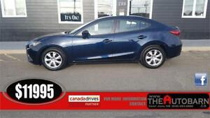 2014 MAZDA 3 GX-Sky SEDAN - 6 speed manual, cruise, bluetooth
