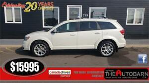2013 DODGE JOURNEY CREW - 5 PASS, NAV, MOONROOF, ONLY 89K